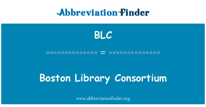 BLC: Boston Library Consortium
