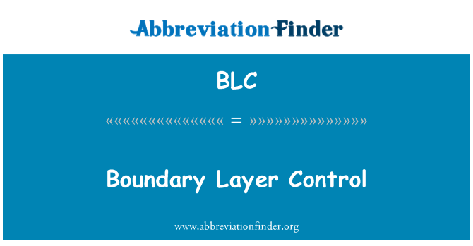 BLC: Boundary Layer Control