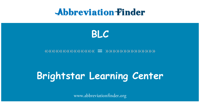 BLC: Brightstar Learning Center