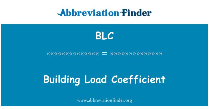 BLC: Building Load Coefficient