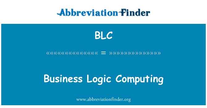 BLC: Business Logic Computing