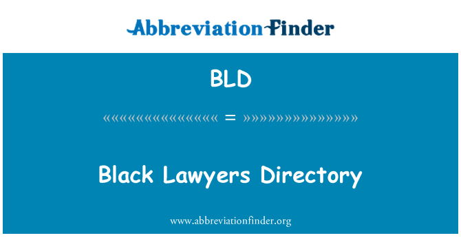 BLD: Black Lawyers Directory