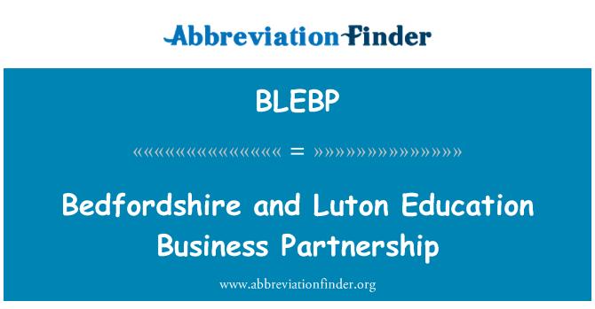 BLEBP: Bedfordshire و Luton آموزش کسب و کار مشارکت