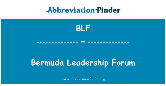BLF: Bermuda Leadership Forum