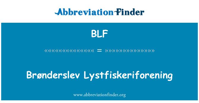 BLF: Brønderslev Lystfiskeriforening
