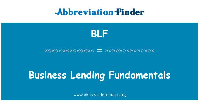 BLF: Business Lending Fundamentals