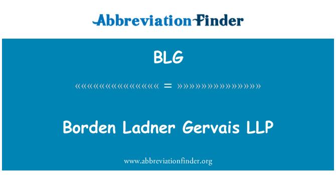 BLG: Borden Ladner Gervais LLP