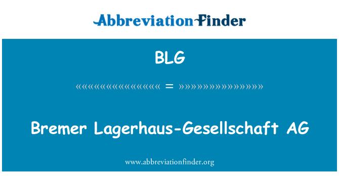 BLG: Bremer Lagerhaus-Gesellschaft AG