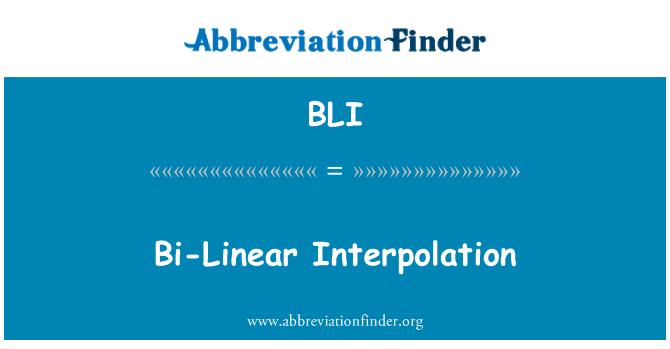 BLI: Bi-Linear Interpolation
