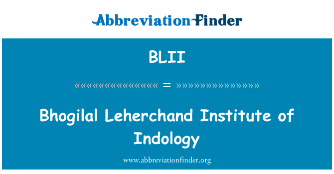 BLII: Bhogilal Leherchand Institute of Indology