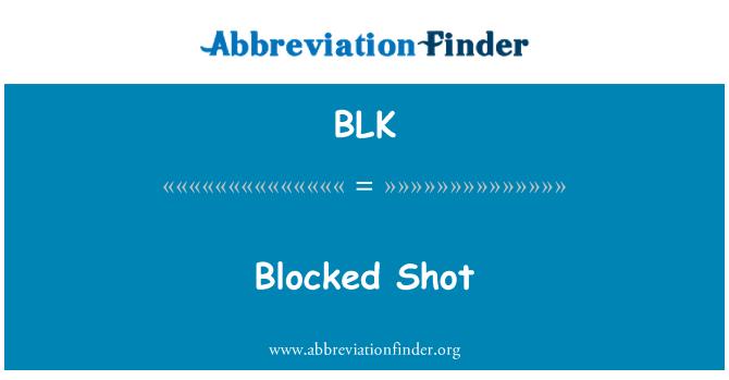 BLK: Blocked Shot