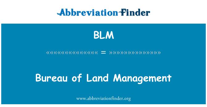 BLM: Bureau of Land Management