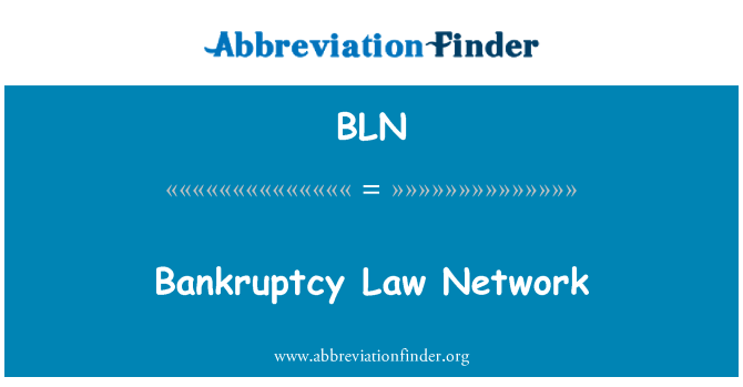 BLN: Bankruptcy Law Network