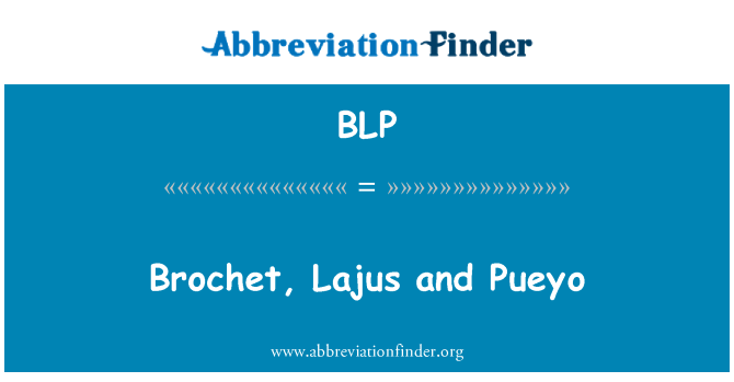 BLP: Brochet, Lajus and Pueyo