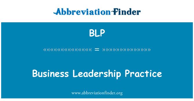 BLP: Business Leadership Practice