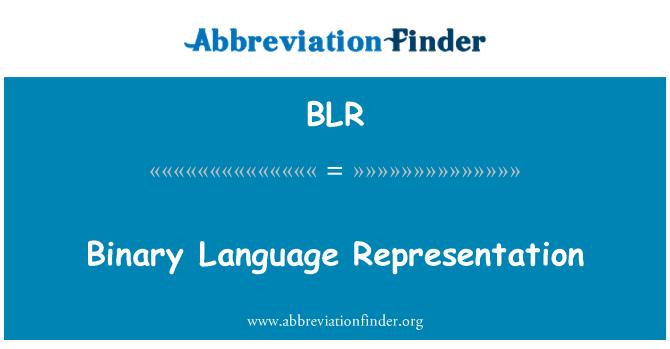 BLR: Binary Language Representation
