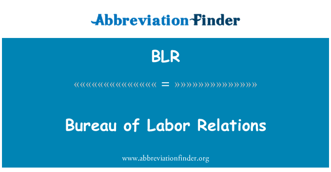 BLR: Bureau of Labor Relations