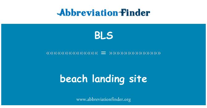 BLS: beach landing site