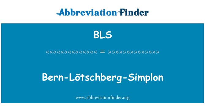 BLS: Bern-Lötschberg-Simplon