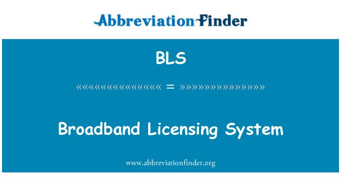 BLS: Broadband Licensing System