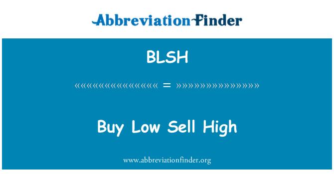 BLSH: Comprar baja venta alta