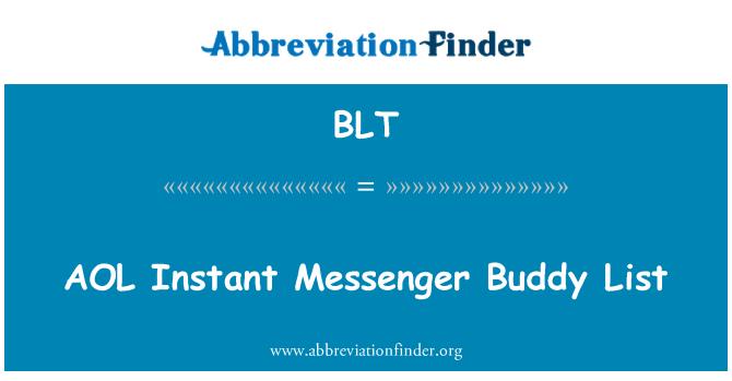 BLT: AOL Instant Messenger Buddy List