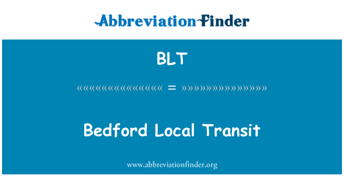 BLT: Bedford Local Transit