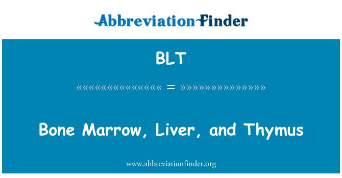 BLT: Bone Marrow, Liver, and Thymus