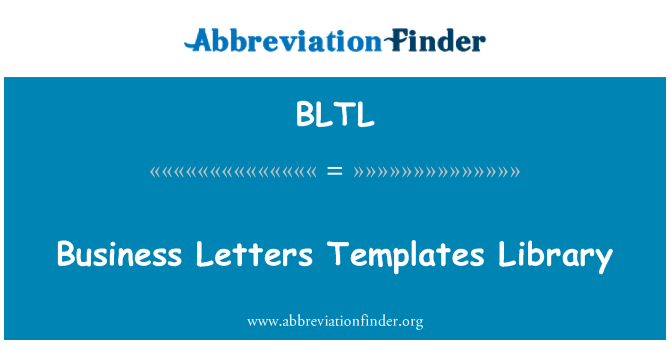 BLTL: Business Letters Templates Library