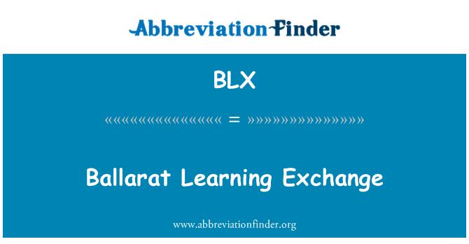 BLX: Ballarat Learning Exchange