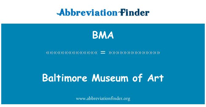 BMA: Baltimore Museum of Art