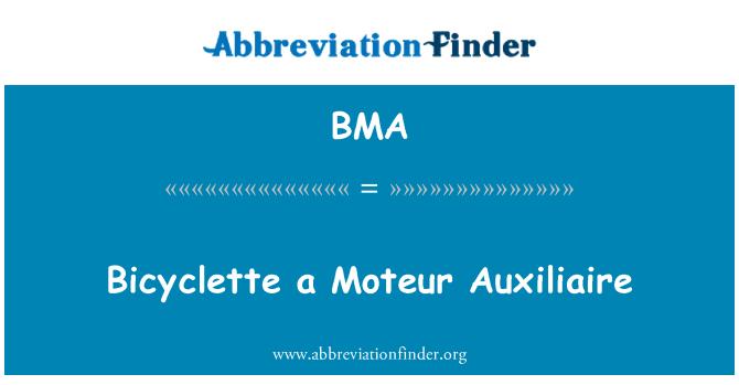 BMA: Bicyclette a Moteur Auxiliaire