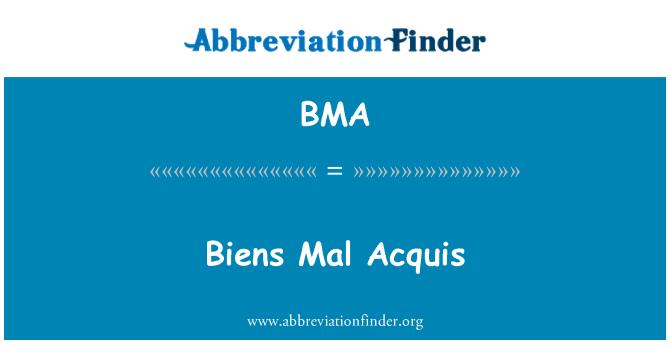 BMA: Biens Mal Acquis