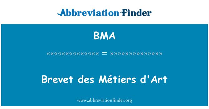 BMA: Brevet des Métiers d'Art