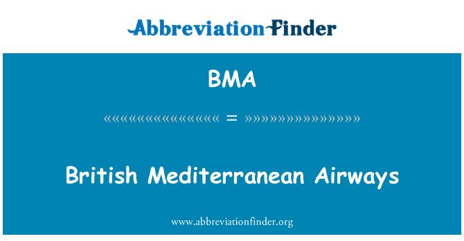BMA: British Mediterranean Airways