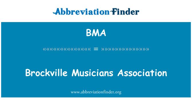 BMA: Brockville Musicians Association