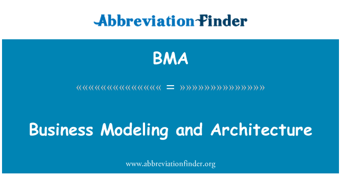 BMA: Business Modeling and Architecture