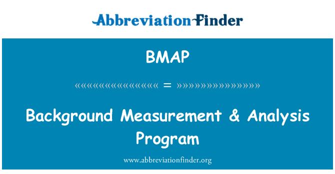 BMAP: Medición de fondo & el programa de análisis