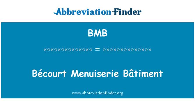 BMB: Bécourt Menuiserie Bâtiment