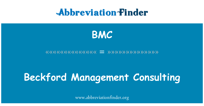 BMC: Beckford Management Consulting