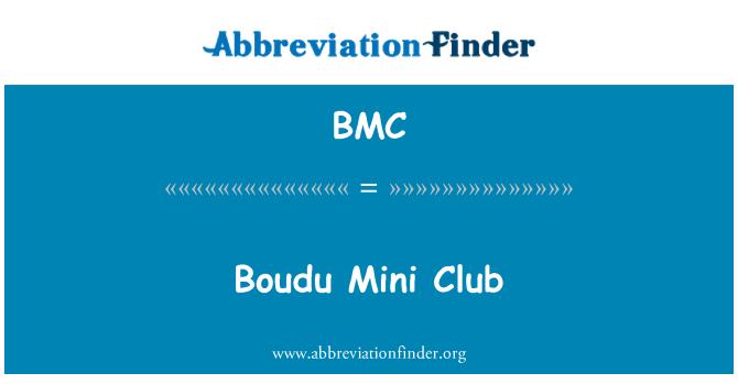 BMC: Boudu Mini Club