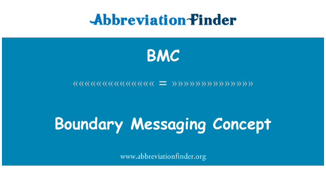 BMC: Boundary Messaging Concept