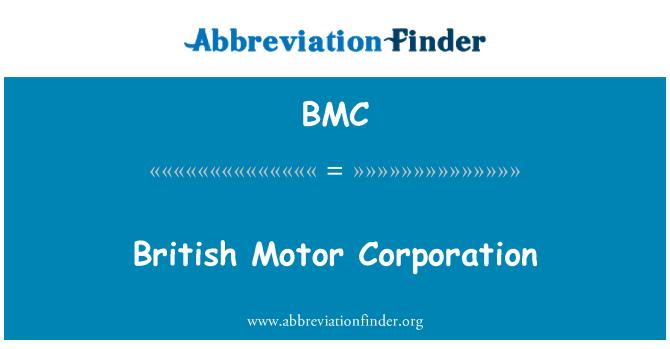 BMC: British Motor Corporation
