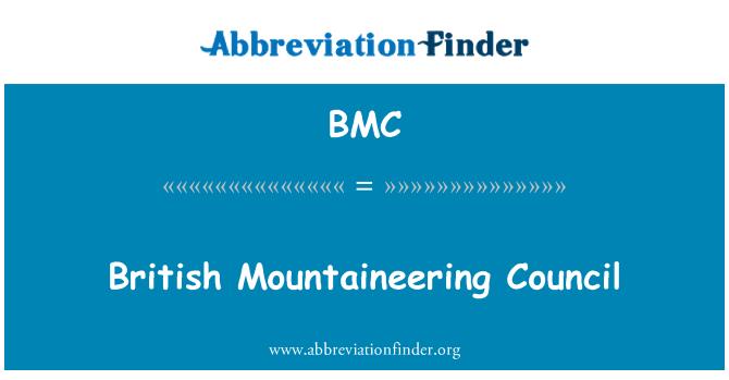 BMC: British Mountaineering Council