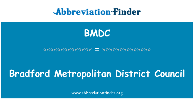 BMDC: Bradford Metropolitan District Council