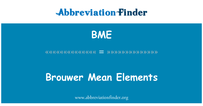 BME: Brouwer Mean Elements