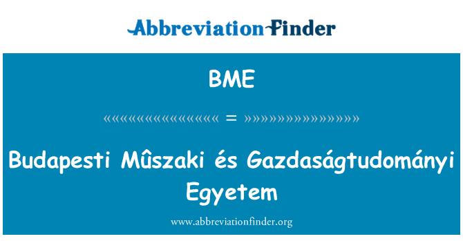 BME: Budapesti Mûszaki és Gazdaságtudományi Egyetem