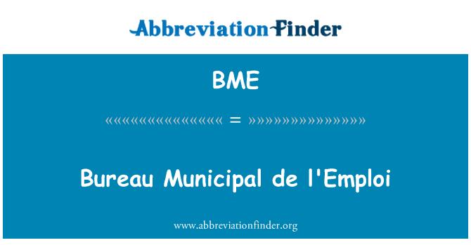 BME: Bureau Municipal de l'Emploi