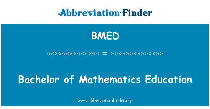 BMED: Ijazah Sarjana Muda Pendidikan matematik