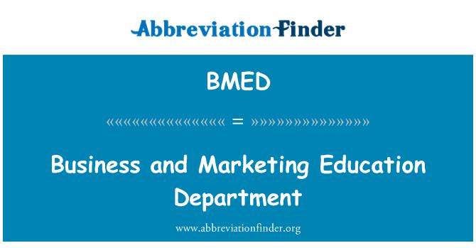 BMED: 商业和营销教育署
